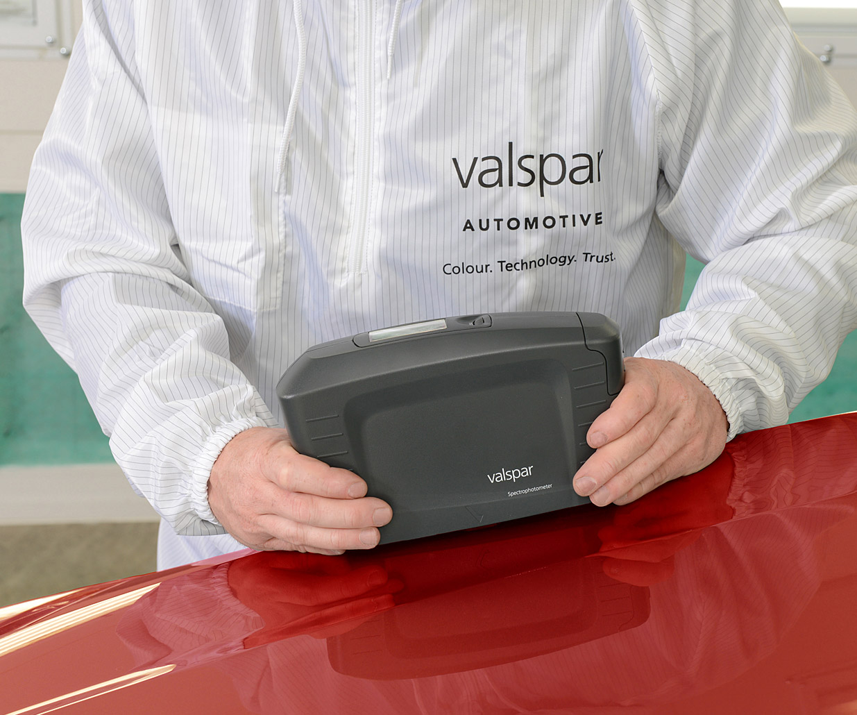Pro-Väri - laitteet ja tarvikkeet - Valspar värimittari - punainen - Verkkokauppamme palvelee 24/7