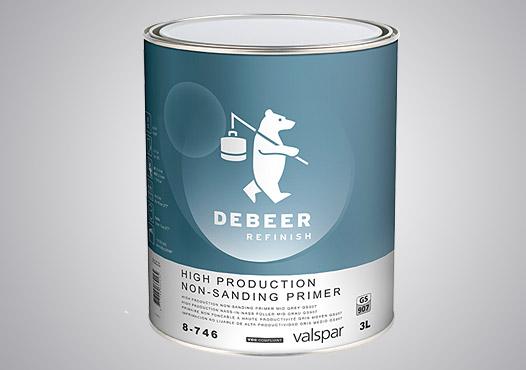 Pro-Väri - automaalit - pohjatuotteet - DeBeer DTE märkää-märälle pohjamaali GS907 harmaa 5:1 3 l