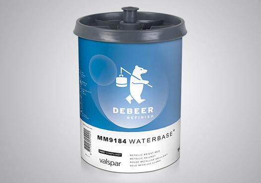 Pro-Väri - tuote - DeBeer Waterbase 99184 Metallic Bright Red 1 l